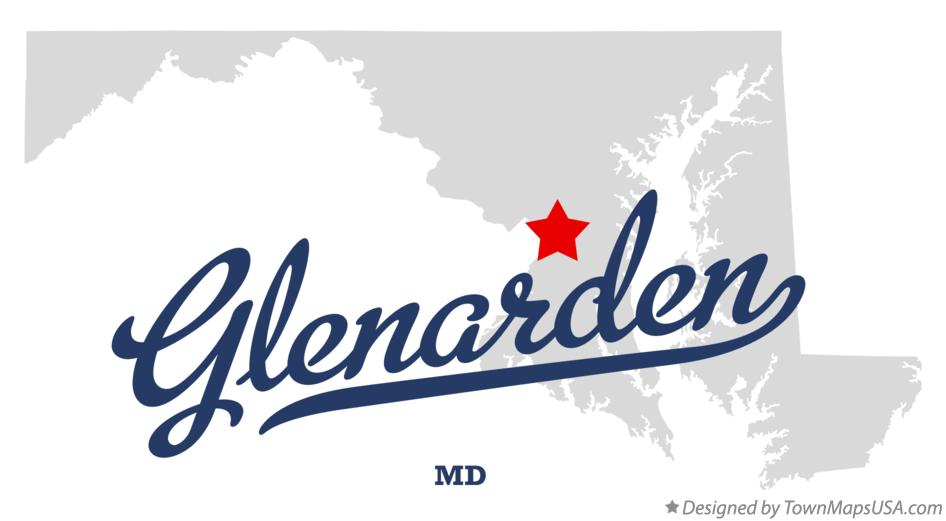 Map of Glenarden Maryland MD