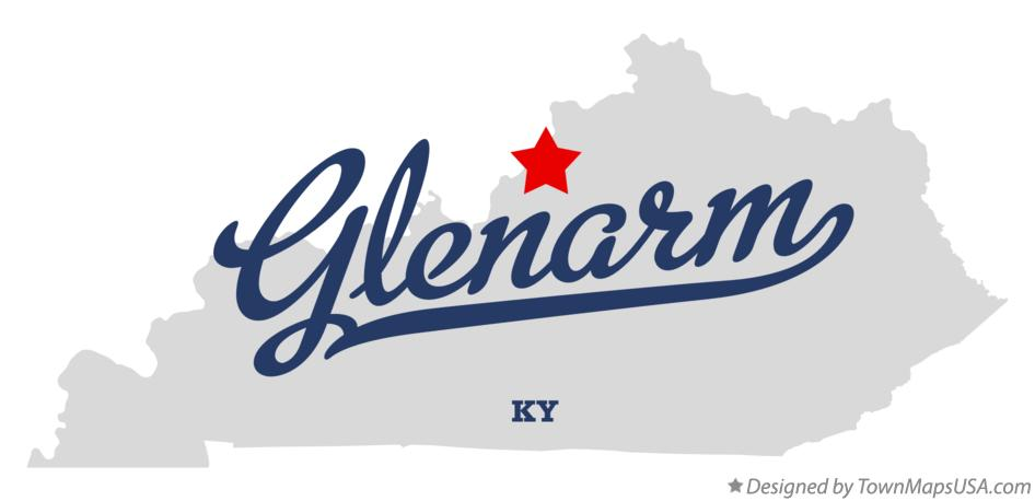 Map of Glenarm Kentucky KY
