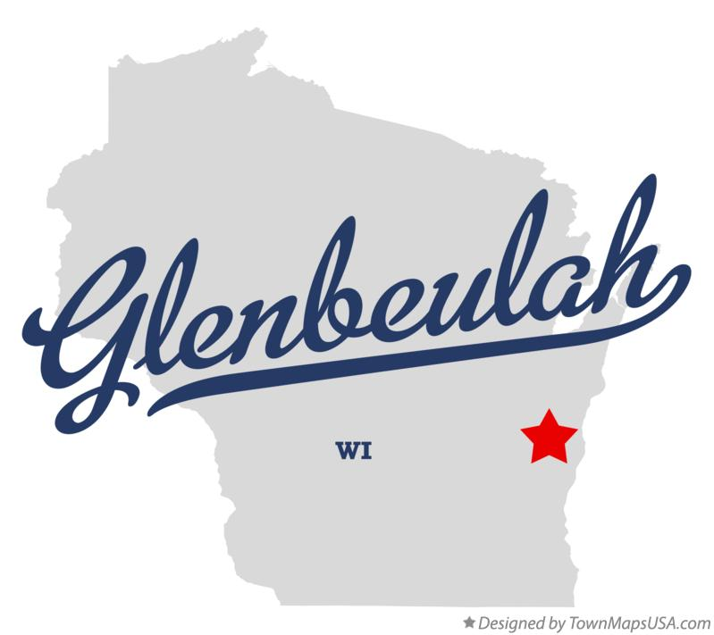 Map of Glenbeulah Wisconsin WI