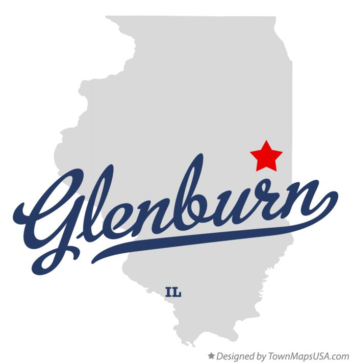 Map of Glenburn Illinois IL