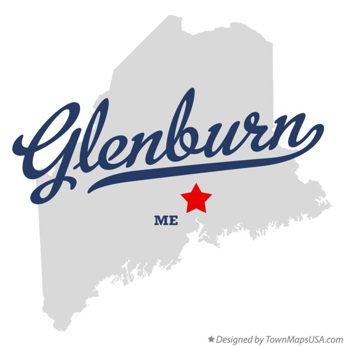 Map of Glenburn Maine ME