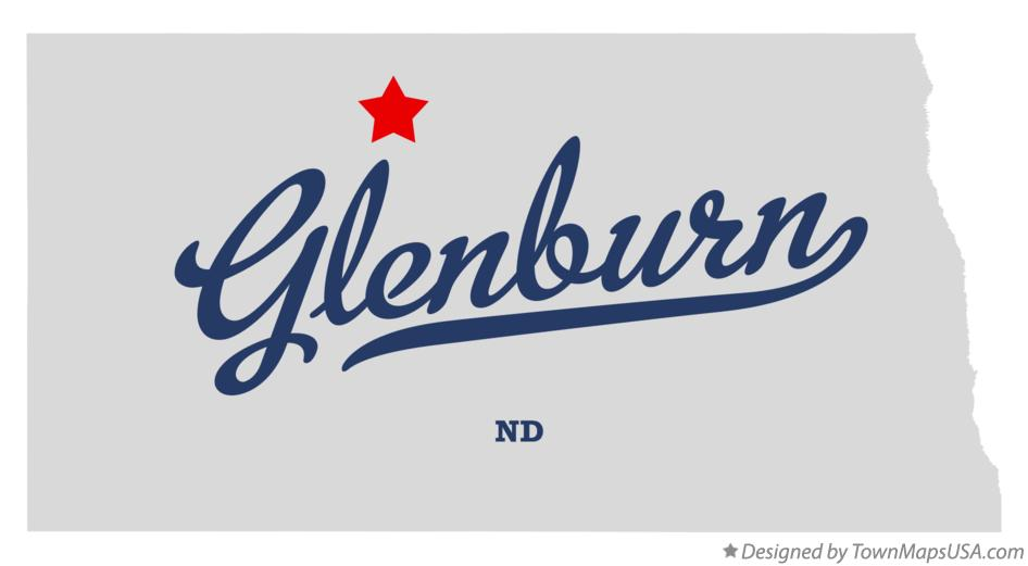 Map of Glenburn North Dakota ND