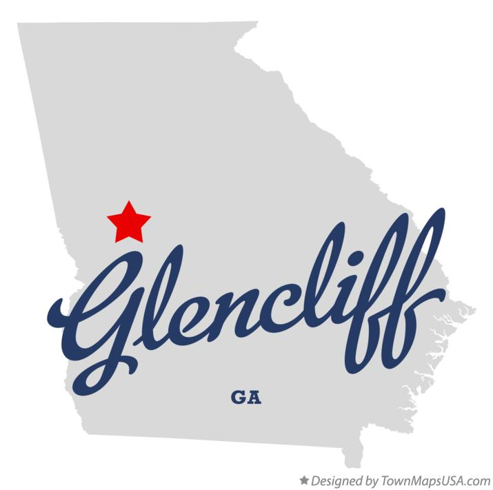 Map of Glencliff Georgia GA