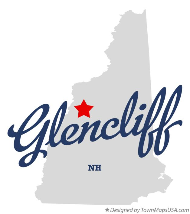 Map of Glencliff New Hampshire NH