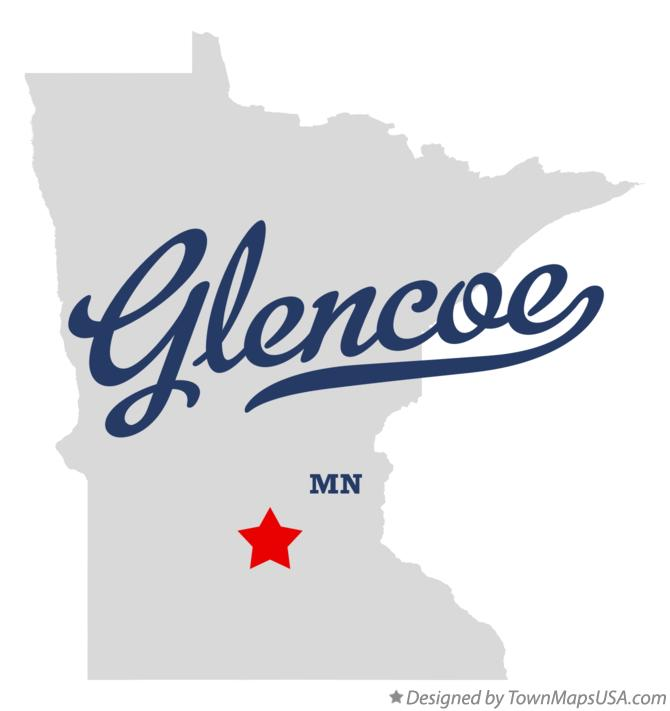 Map of Glencoe Minnesota MN