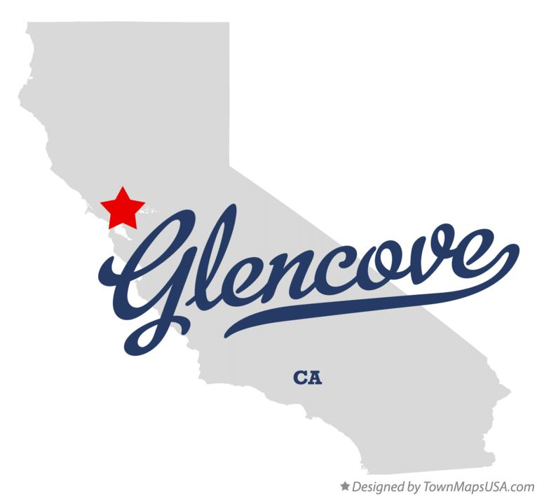 Map of Glencove California CA