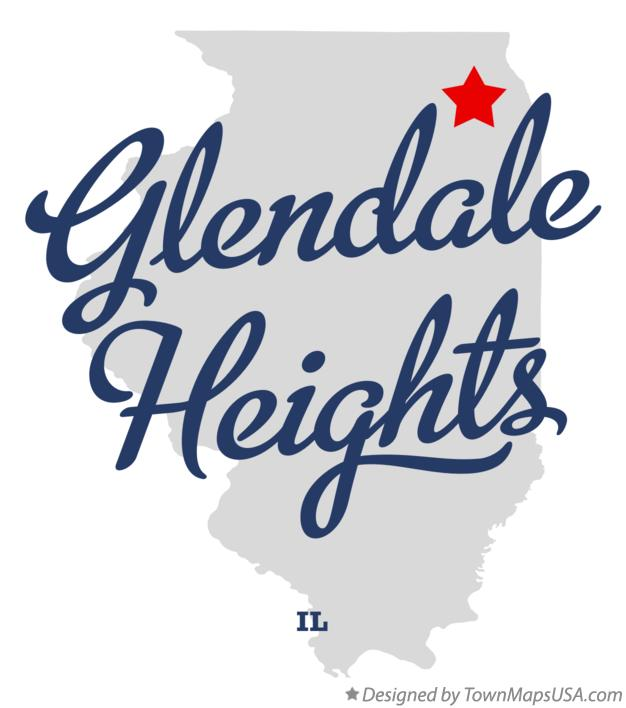 Map of Glendale Heights Illinois IL