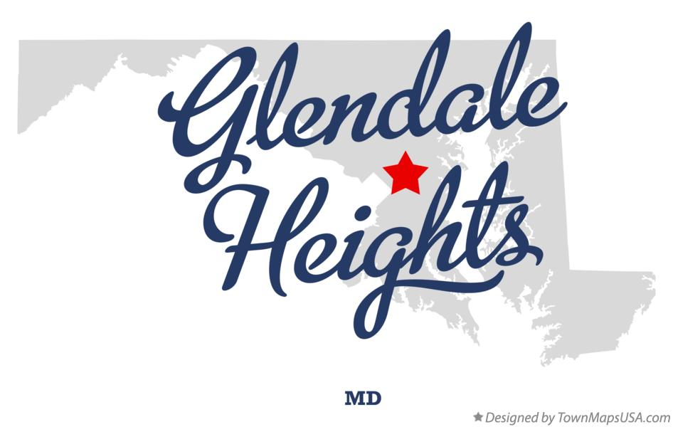 Map of Glendale Heights Maryland MD