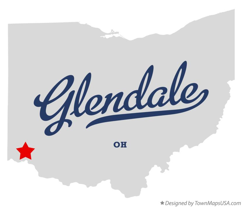 Map of Glendale Ohio OH