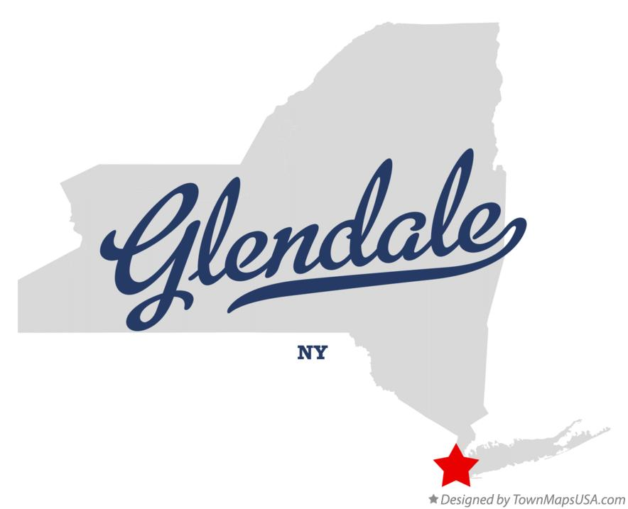 Map of Glendale New York NY