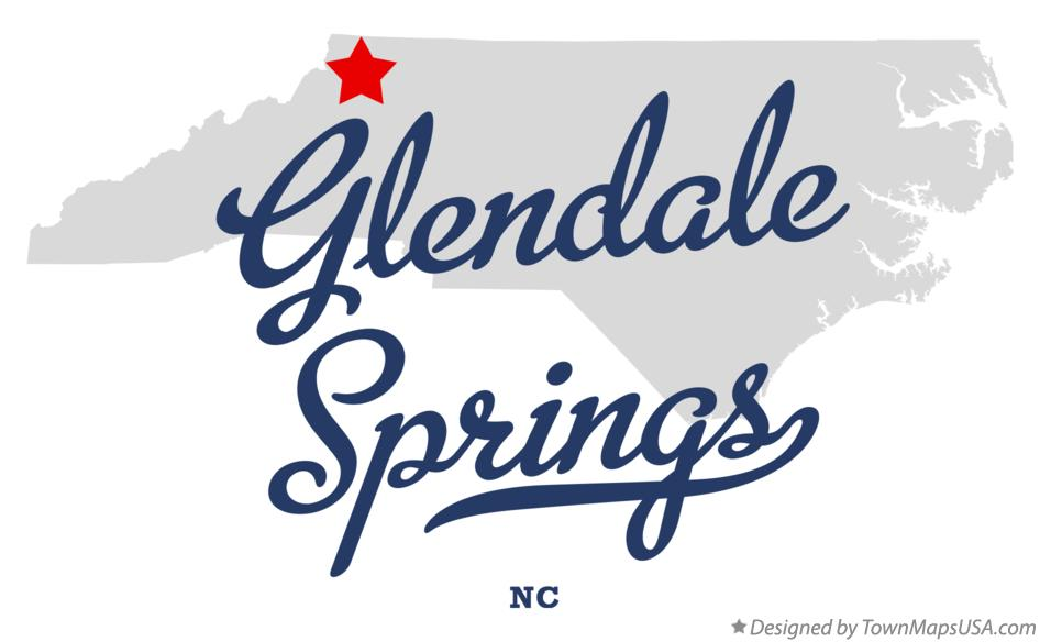 Map of Glendale Springs North Carolina NC