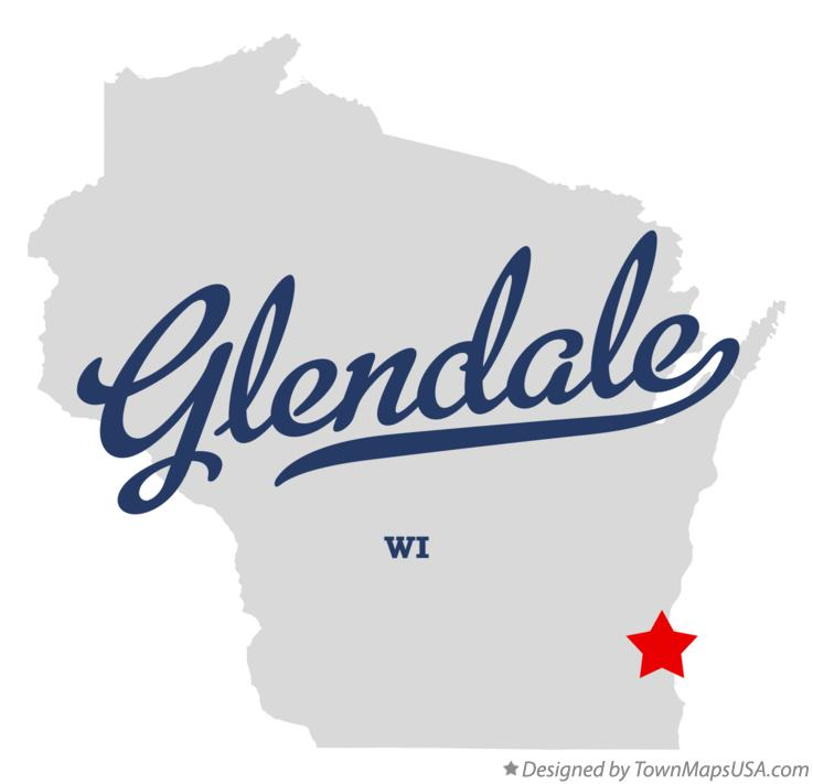 Map of Glendale Wisconsin WI
