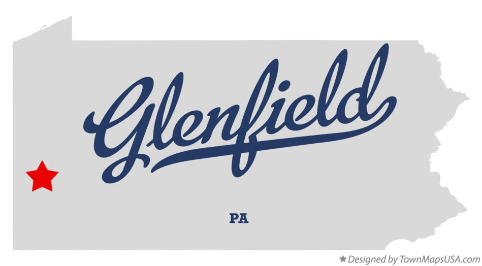 Map of Glenfield Pennsylvania PA
