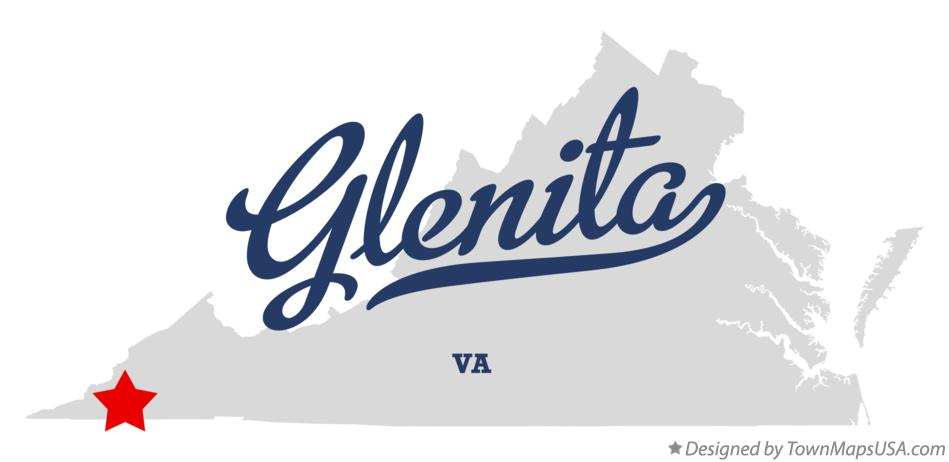 Map of Glenita Virginia VA