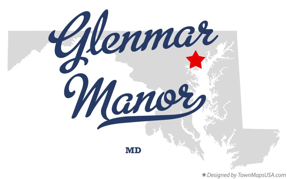 Map of Glenmar Manor Maryland MD