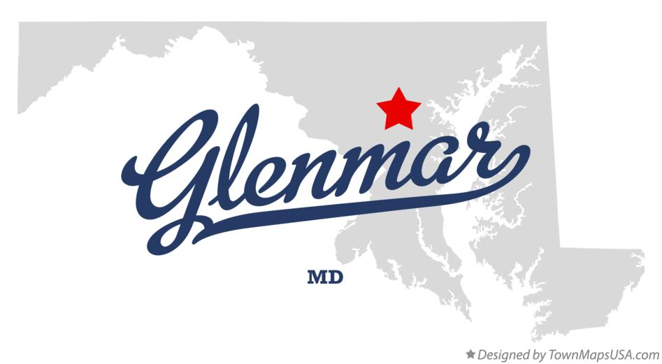 Map of Glenmar Maryland MD