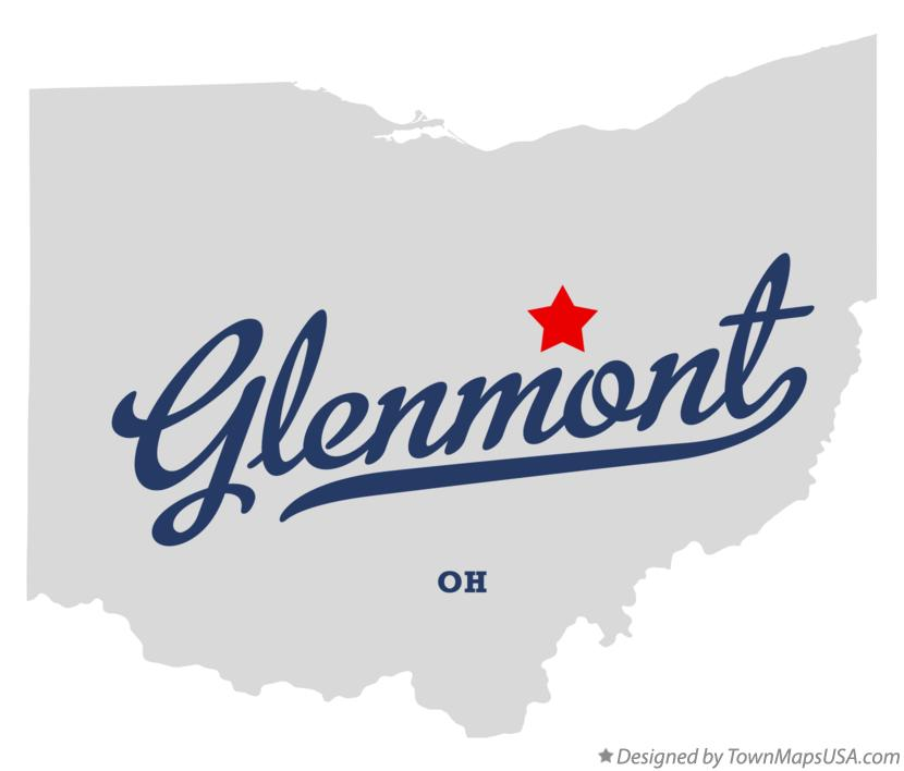 Map of Glenmont Ohio OH