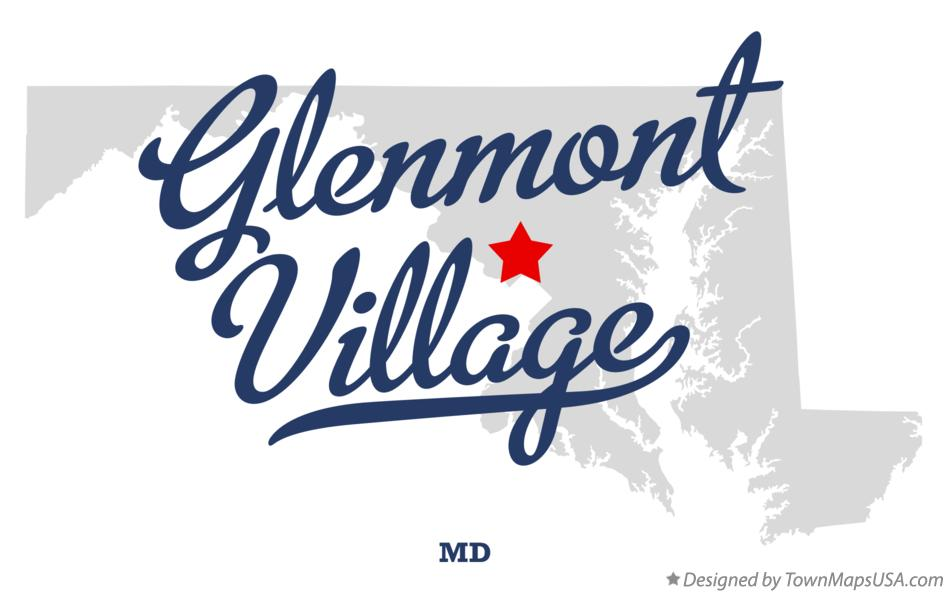 Map of Glenmont Village Maryland MD