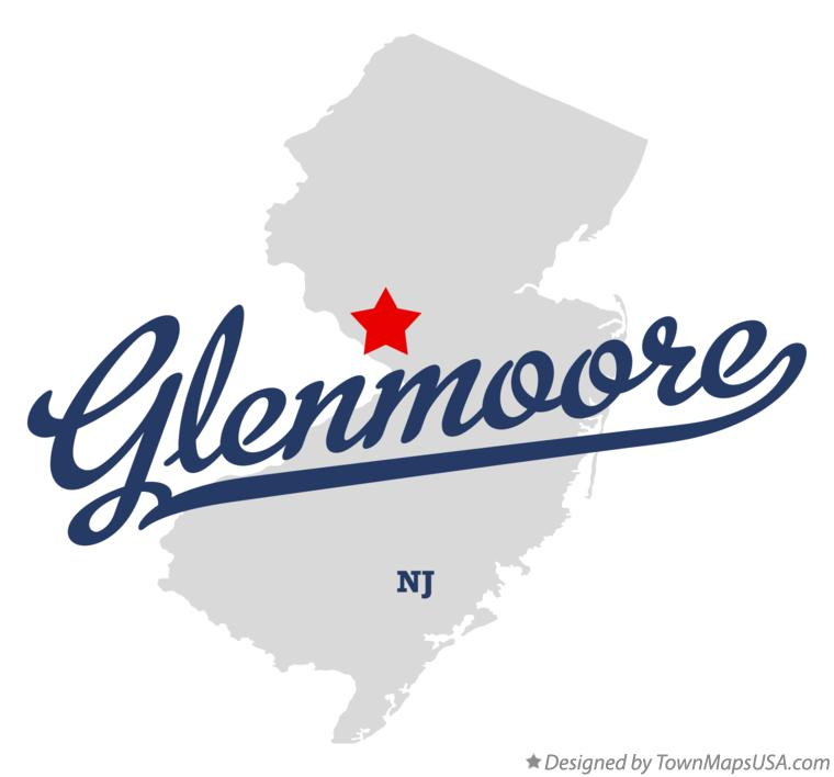 Map of Glenmoore New Jersey NJ