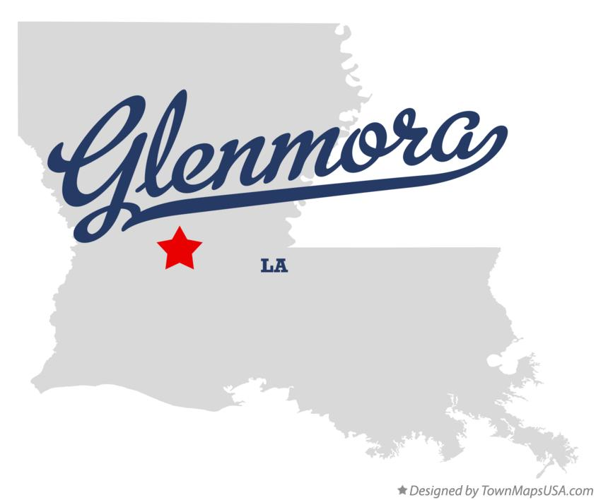 Map of Glenmora Louisiana LA