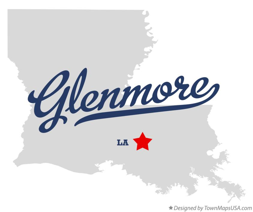 Map of Glenmore Louisiana LA