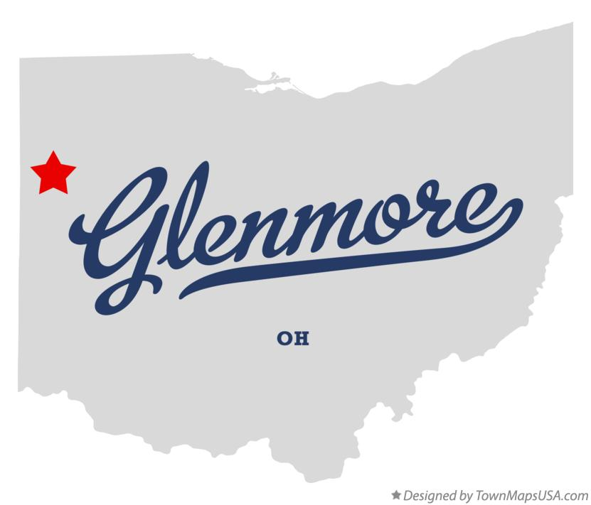 Map of Glenmore Ohio OH