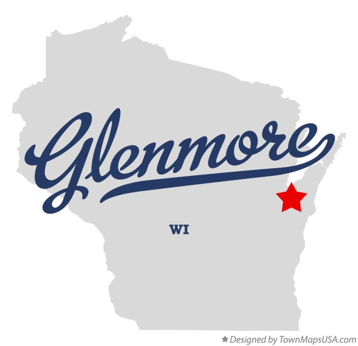 Map of Glenmore Wisconsin WI