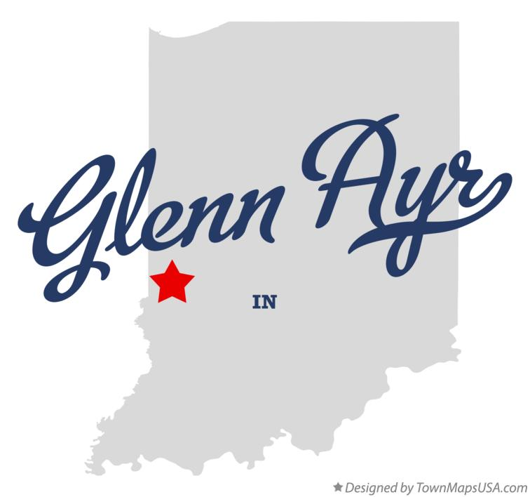 Map of Glenn Ayr Indiana IN