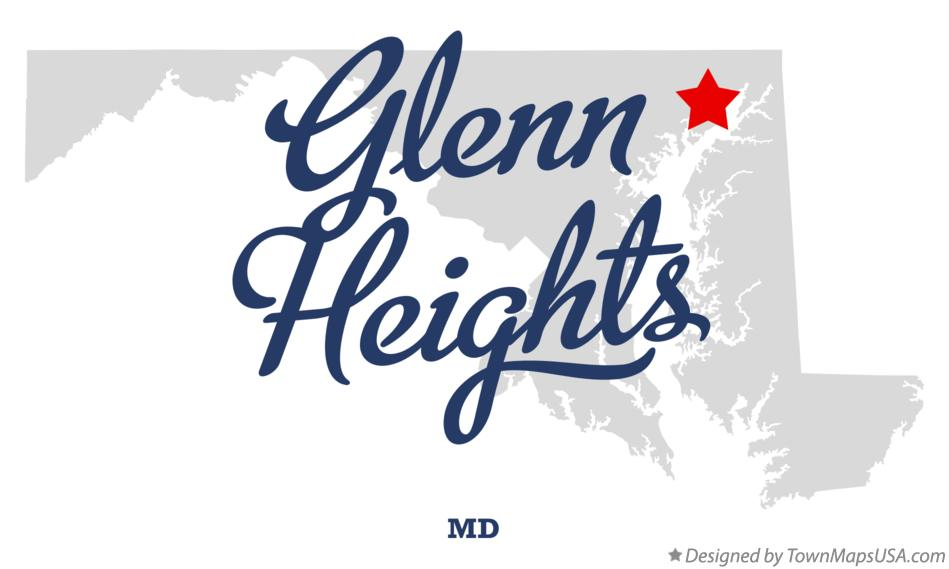 Map of Glenn Heights Maryland MD