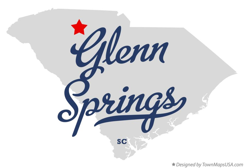 Map of Glenn Springs South Carolina SC
