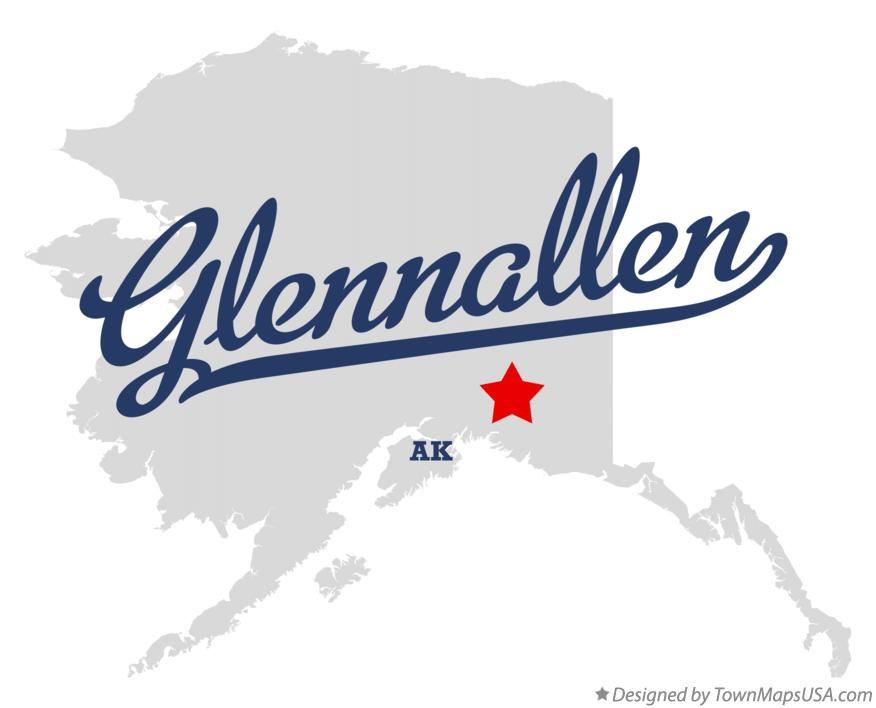 Map of Glennallen Alaska AK