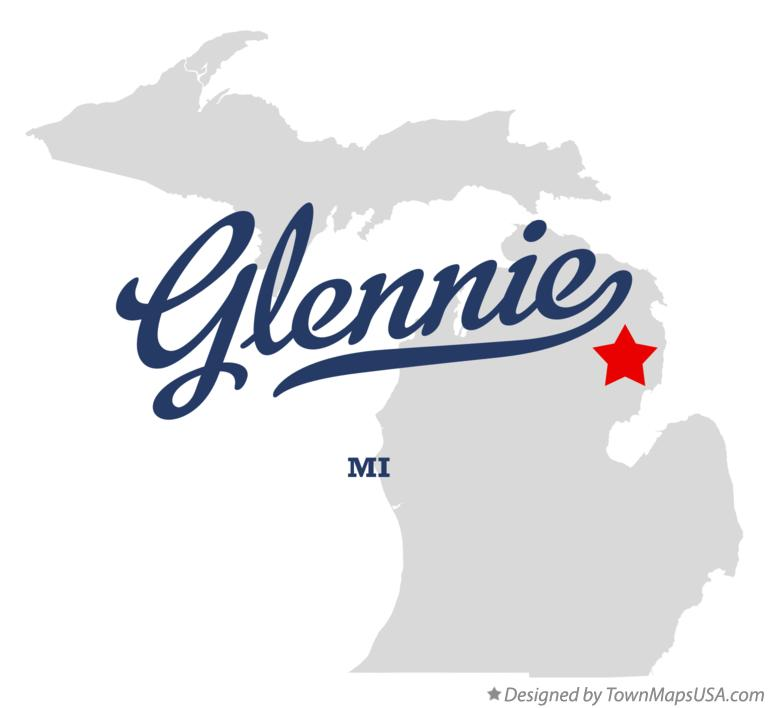 Map of Glennie Michigan MI