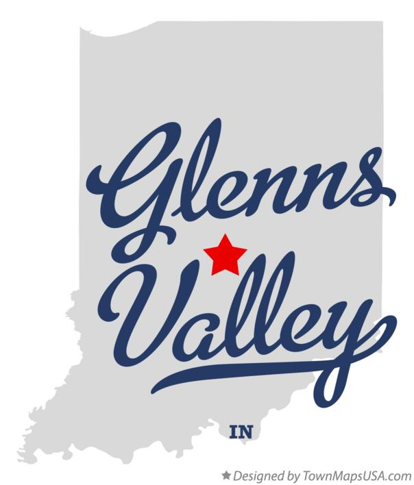 Map of Glenns Valley Indiana IN