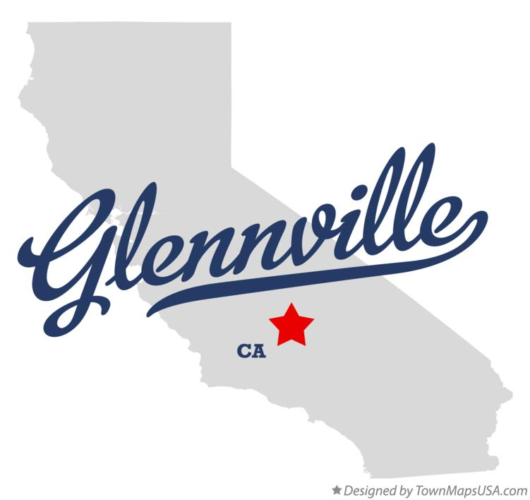 Map of Glennville California CA