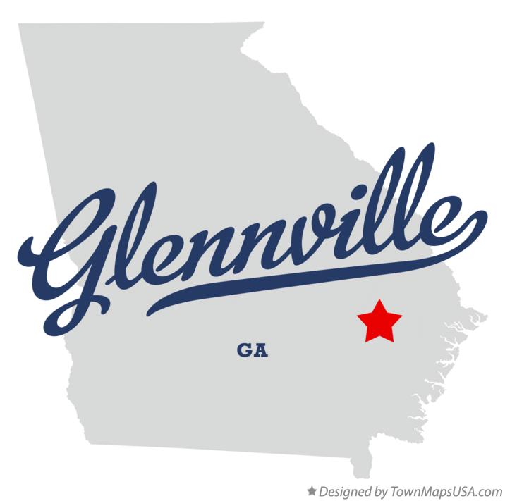 Map of Glennville Georgia GA