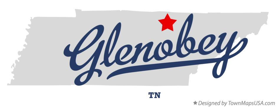 Map of Glenobey Tennessee TN