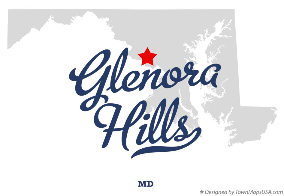 Map of Glenora Hills Maryland MD