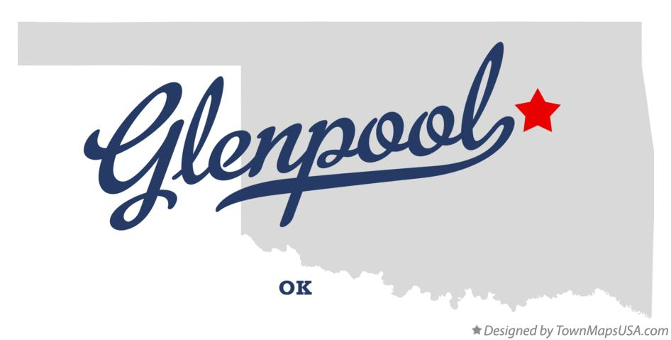 Map of Glenpool Oklahoma OK