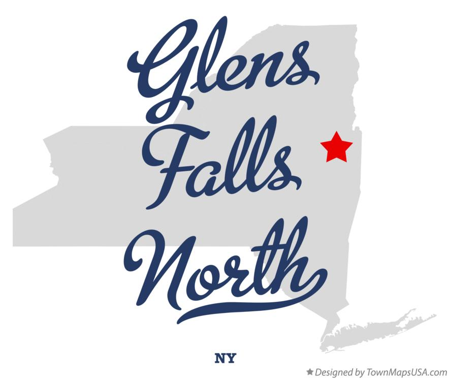 Map of Glens Falls North New York NY