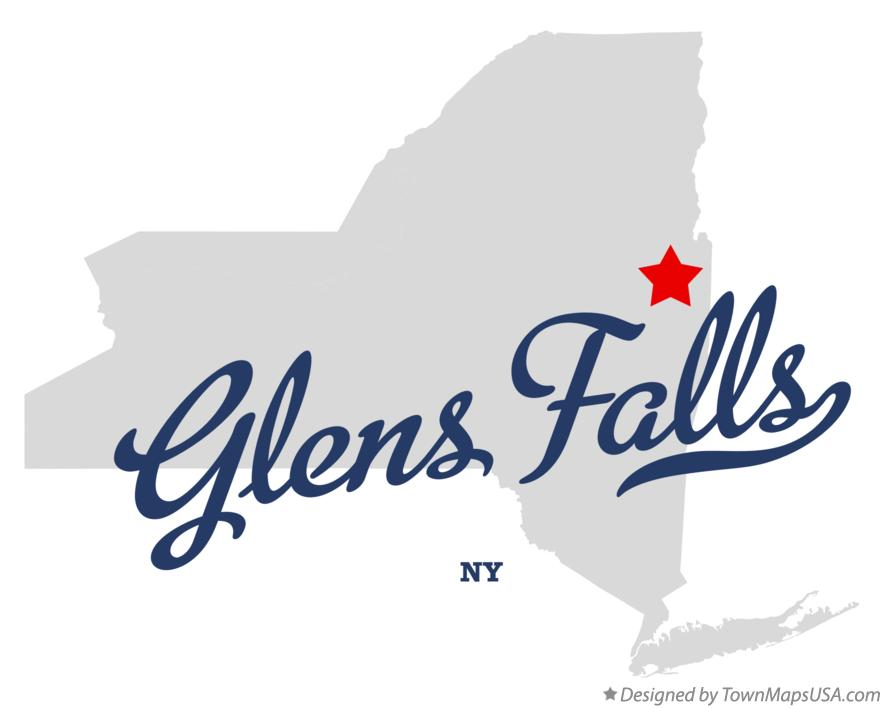 Map of Glens Falls New York NY