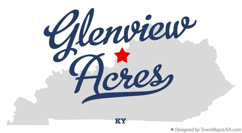 Map of Glenview Acres Kentucky KY