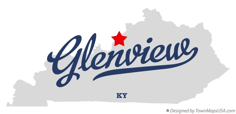 Map of Glenview Kentucky KY