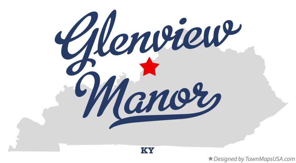 Map of Glenview Manor Kentucky KY
