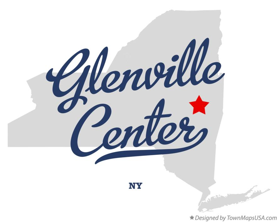 Map of Glenville Center New York NY