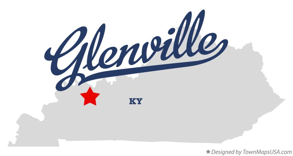 Map of Glenville Kentucky KY