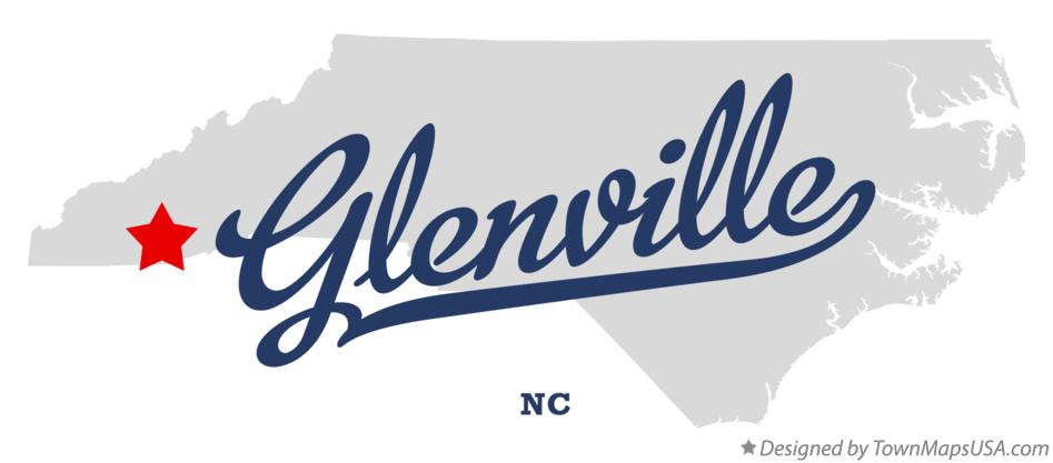 Map of Glenville North Carolina NC
