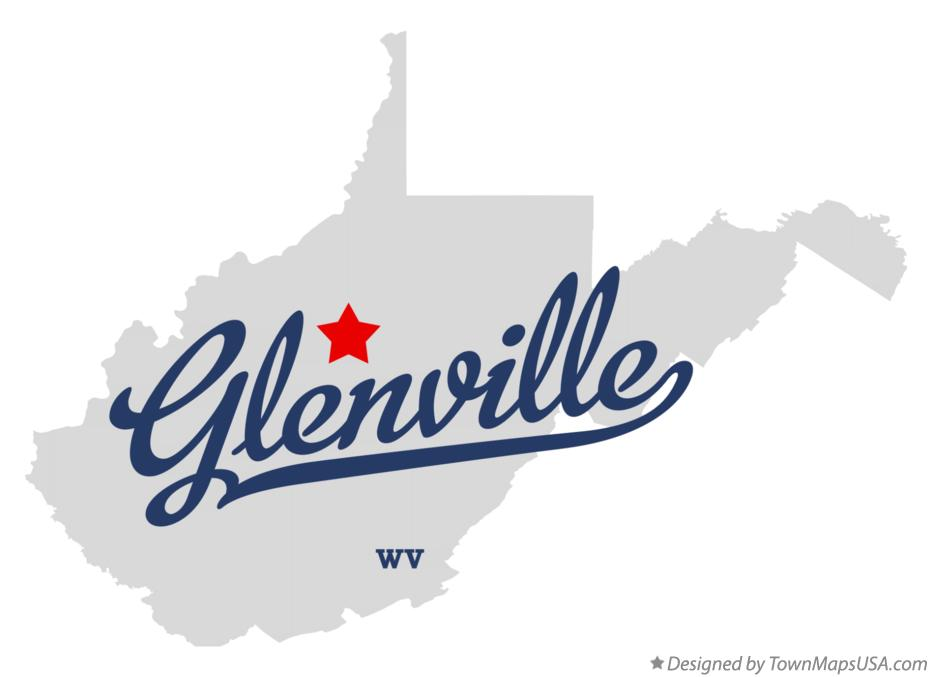 Map of Glenville West Virginia WV