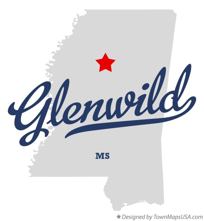 Map of Glenwild Mississippi MS