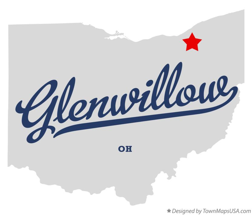 Map of Glenwillow Ohio OH