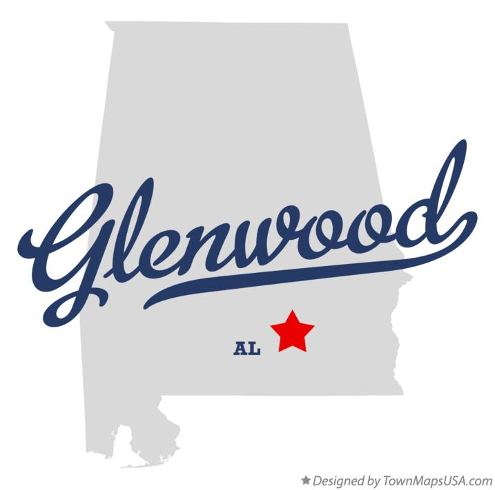 Map of Glenwood Alabama AL